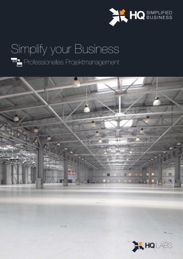 HQ Simplified Business Projektmanagement-Broschüre - HQLabs