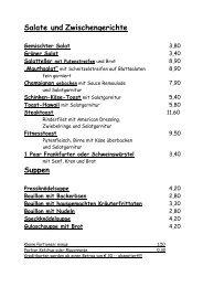 zur Speisekarte - Gasthof Mauth