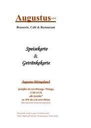 Speisekarte November - Brasserie Cafe Restaurant Augustus