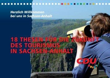 18 thesen für die zukunft des tourismus in sachsen-anhalt - CDU ...