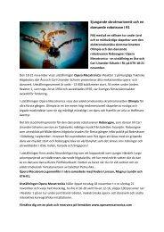 Presstext Opera M med bild till hemsidan - Opera Mecatronica