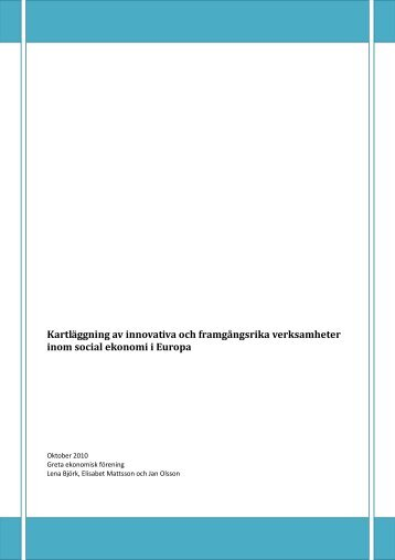 Kartläggning Social ekonomi i EuropaNytt fönster. - Västra ...