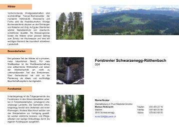 Forstrevier Schwarzenegg-Röthenbach