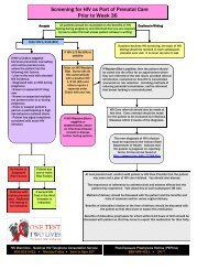 Algorithm for HIV Testing During Prenatal Care - State of Indiana