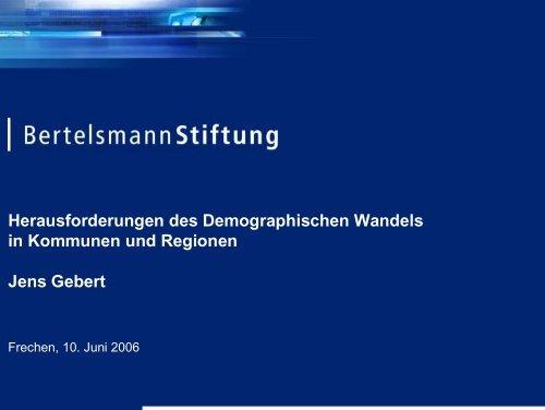 Herausforderungen des Demographischen Wandels in Kommunen ...