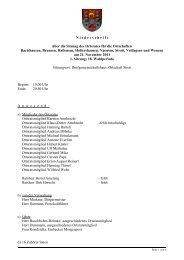 Protokoll der Ortsratsitzung vom 21. November 2011 - Ortsrat
