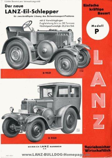 LANZ-Eil-Schlepper - LANZ-BULLDOG-Homepage