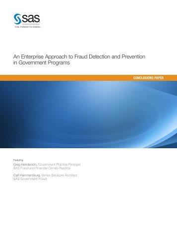 An Enterprise Approach to Fraud Detection and Prevention in ...