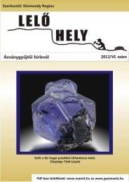 Teljes szám - Magyar Minerofil Társaság