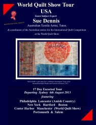World Quilt Show Tour USA Sue Dennis