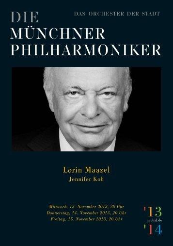 Download program - Münchner Philharmoniker