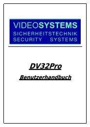 Starten des DV32Pro Systems - Videosystems