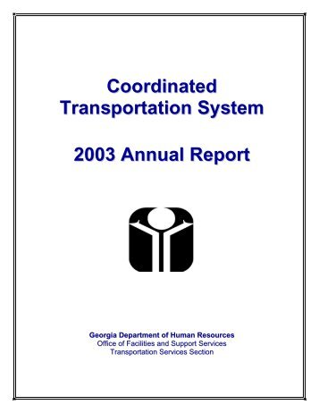 Coordinated Transportation System - Department of Behavioral ...