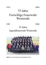 Festzeitschrift - Freiwillige Feuerwehr Westerode