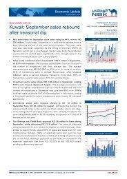 Kuwait: September sales rebound after seasonal dip - National Bank ...