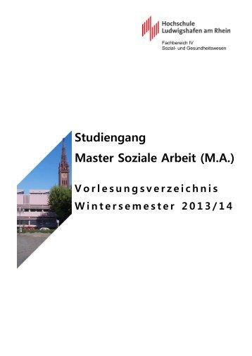 Studiengang Master Soziale Arbeit (M.A.)