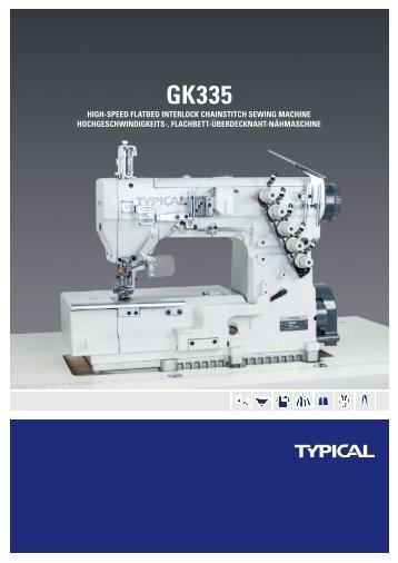 hiGh-speed flatbed interlocK chainstitch sewinG machine ... - Typical