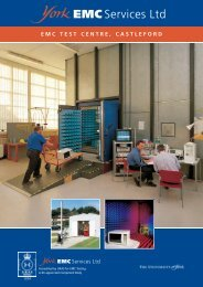 EMC TEST CENTRE, CASTLEFORD - York EMC Services Ltd