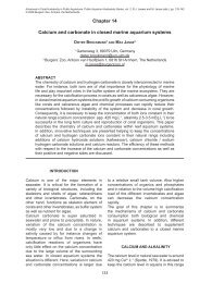 Chapter 14 Calcium and carbonate in closed marine aquarium ...
