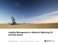 Liability Management in Alberta's Maturing Oil and Gas Sector