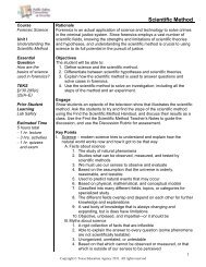 Scientific Method - Career and Technical Education