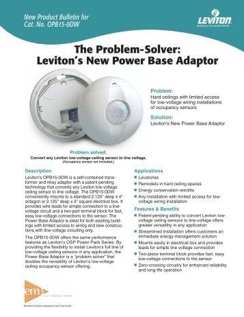 New Energy-Efficient Fluorescent Ceiling Lampholder Turns - Leviton