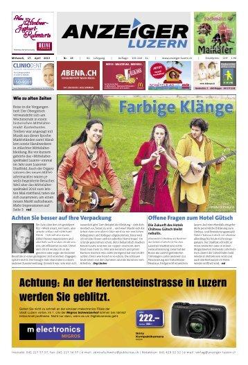 Anzeiger Luzern, Ausgabe 15, 17. April 2013
