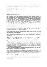 Bericht des Rechtsausschusses über das Thema ... - Politikschmiede