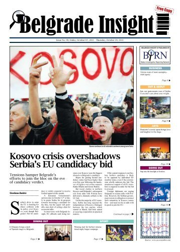 Kosovo crisis overshadows Serbia's EU ... - Belgrade Insight