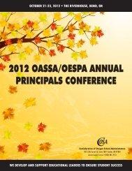 2012 OASSA/OESPA ANNUAL PRINCIPALS CONFERENCE - Cosa
