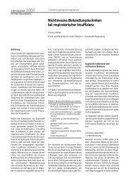 Nichtinvasive Behandlungstechniken bei respiratorischer Insuffizienz