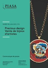 Le « Precious Design - Piasa