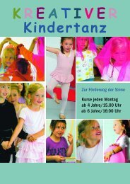 K R E A T I V E R Kindertanz - Ballett Atelier Boos