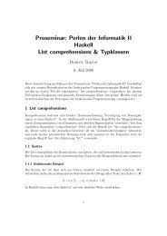 Proseminar: Perlen der Informatik II Haskell List comprehensions ...