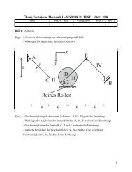 B C D a a a x y a I II III IV a/2 E Reines Rollen A a ...
