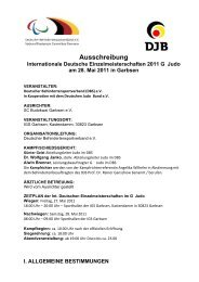 Ausschreibung - Nordrhein-Westfälischer Judo-Verband e.V.