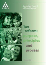 Tax reform: purpose, principles and process - Australian Council of ...