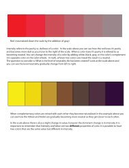 Intensity refers to the purity vs. dullness of a color. In the scale above ...
