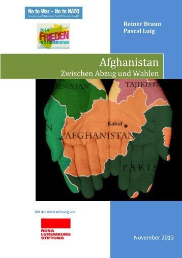 Broschüre: Afghanistan zwischen Abzug und Wahlen - NatWiss