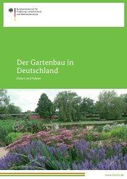 Der Gartenbau in Deutschland - BMELV-Statistik