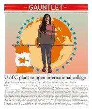 U of C plans to open international college - The Gauntlet