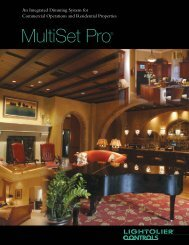 Lightolier Controls MultiSet Pro Brochure - Philips Lighting Controls