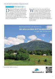 IM SÜDLICHEN MITTELGEBIRGE - Almenrausch