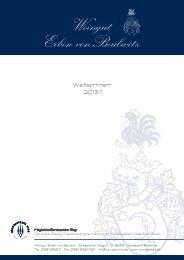 Download Weinpreisliste 2013 - Weingut Erben von Beulwitz