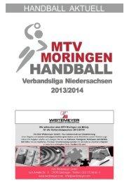 Hallenheft 16.11.13 (vs. HV Lüneburg) - MTV Moringen