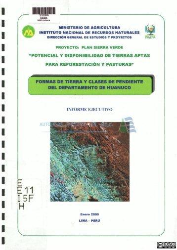 E11 I5F H - Autoridad Nacional del Agua