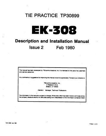 Tie Meritor EK-308 Issue 2 Feb 1980 - Wedophones.com wedophones