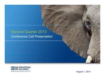 Second Quarter 2013 - Industrial Alliance, Insurance and Financial ...
