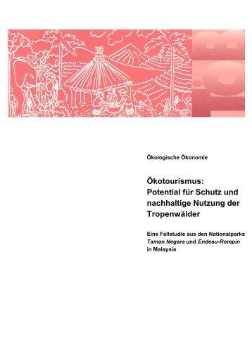 Ökotourismus: Potential für Schutz und nachhaltige Nutzung ... - Gtz