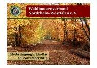 Aktuelle Forstpolitik - Waldbauernverband